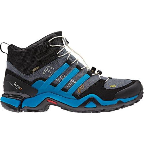 Adidas Terrex Fast R Mid GTX Boot – Men's Lead / Solar Blue / Black 8.5