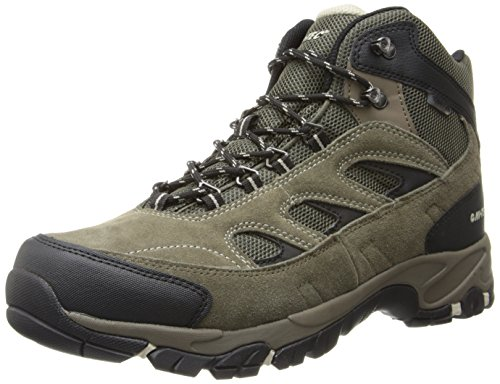 Hi-Tec Men's Logan WP Hiking Boot,Smokey Brown/Olive/Snow,10.5 M US