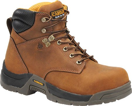 Men's Carolina Waterproof Broad Toe Work Boots, COPPER, 11.5