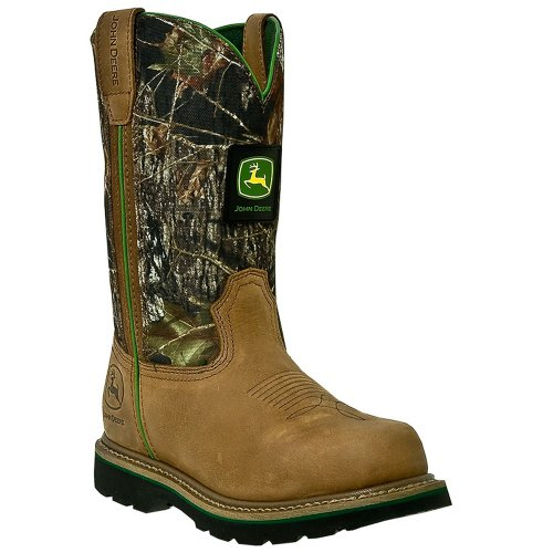 JD4348 John Deere Men's Wellington Safety Boots – Mossy Oak – 11.0W