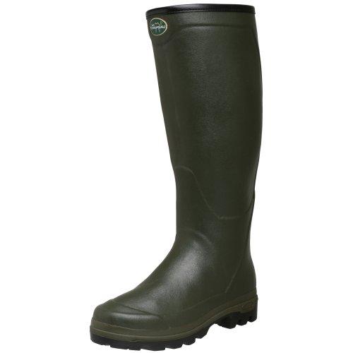 Le Chameau Men's Country XL Rubber Boot,Vert Olive,42 M EU / 9 D(M)