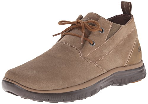 Skechers USA Men's Hinton Franken Chukka Boot, Desert, 13 M US
