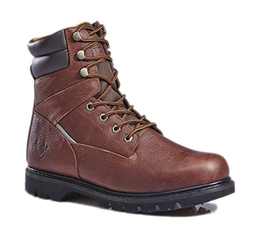 CYBER MONDAY SALES,KINGSHOW Men's 1312 7″ Premium Full-Grain Leather Plain Rubber Sole Soft Toe Work Boots