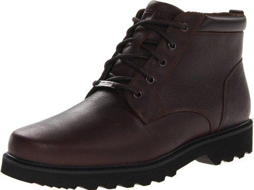 Rockport Men's Northfield WP Plain Toe Chukka Boot, Chocolate Waterproof, 12 M US