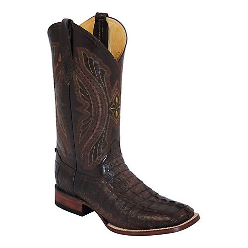 Ferrini Mens Caiman Crocodile Sq Choc Boots 8D