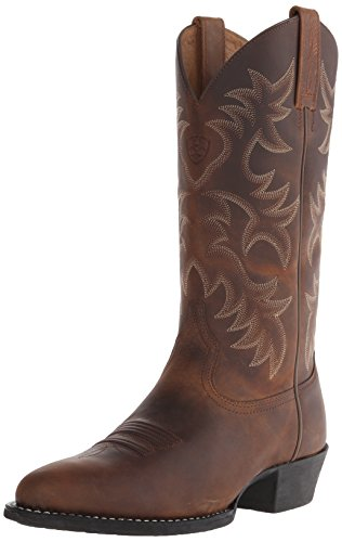Ariat Men's Heritage Western R Toe Western Boot,  Distressed Brown,  11 D US