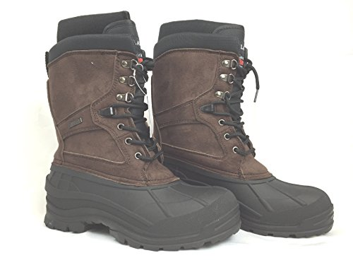 LABO Men's Brown10″ Winter Snow Hunting Boots Shoes Waterproof Insulated 108