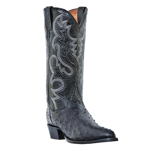 Dan Post Men's Tempe Western Boot,Black,9.5XW US