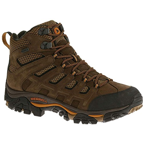 Merrell Men's Moab Peak Mid Ventilator Waterproof Hiking Boot,Black Slate,9.5 M US