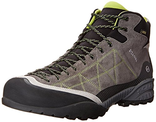 Scarpa Men's Zen Pro Mid GTX Hiking Boots Shark / Spring 41.5 and Hiking Sock Bundle