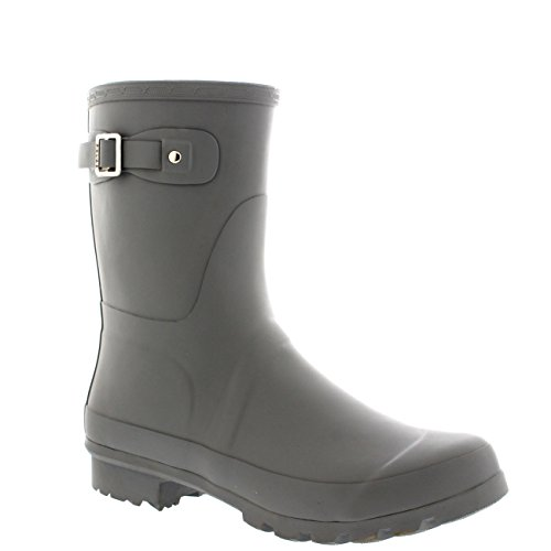 Mens Original Short Plain Rubber Fishing Ankle High Wellington Boots – 9 – GRE42 BL0187