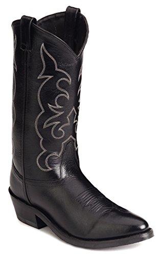 Old West Men's Leather Cowboy Work Boots – Black11 D(M) US