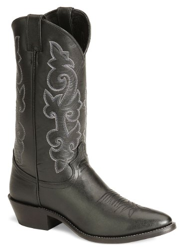 Justin Boots Men's 13″ Western Boot Medium Round Toe,Black London Calf,10.5 D US
