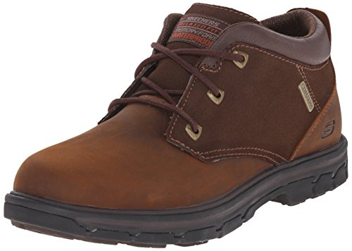 Skechers USA Men's Segment Verzani Relaxed Fit Waterproof Boot