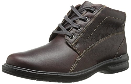 Clarks Men's Sherwin High Chukka Boot,Brown Tumbled Leather,10.5 M US