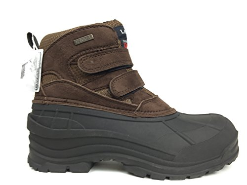 LABO Men's Brown Fashion Winter Snow Boots Shoes Velcro Waterproof Insulated 105