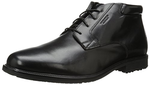 Rockport Men's Essential Details WP Chukka Boot, Black, 13 XW US