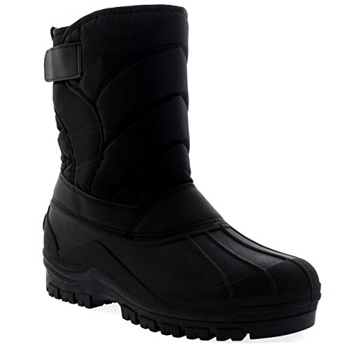Mens Muck Nylon Strap Lace Up Duck Snow Winter Flat Rain Waterproof Boots
