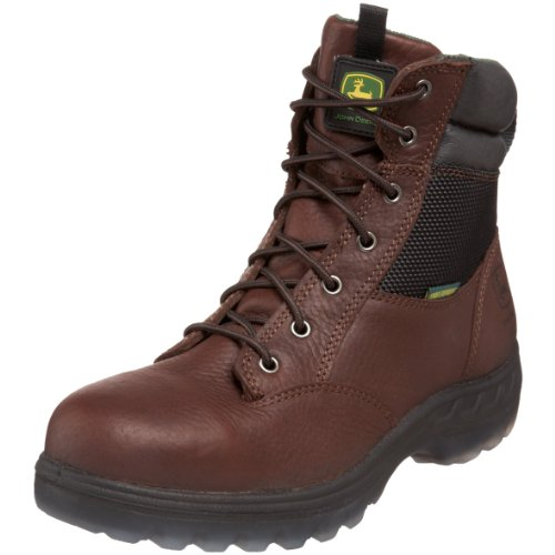 John Deere Men's JD7601 7″ ST WP Zipper Lace-Up Hiker Boot,Brown,11 M US