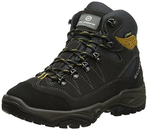 Scarpa Men's Mistral GTX Hiking Boots Anthracite / Senape 41 and Hiking Sock Bundle