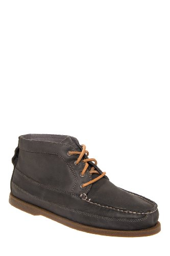 Sperry Top-Sider Men's A/O Relaxed Leather Boat Chukka Dark Grey Boot 9 M (D)