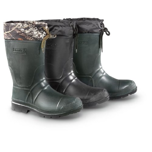 Kamik Men's Insulated Rubber Rain Boots, CAMO, 9D