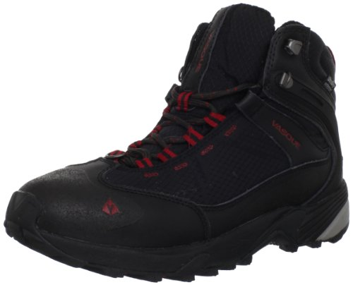 Vasque Men's Snow Junkie Hiking Boot,Jet Black/Chili Pepper,7.5 M US