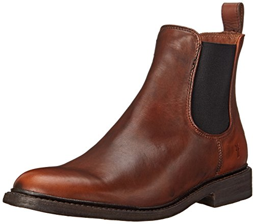 FRYE Men's James Chelsea Boot, Cognac Smooth Vintage Leather, 10 M US