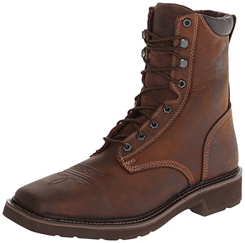 Justin Original Work Men's Rustic Barnwood Stampede Square Toe Work Boot