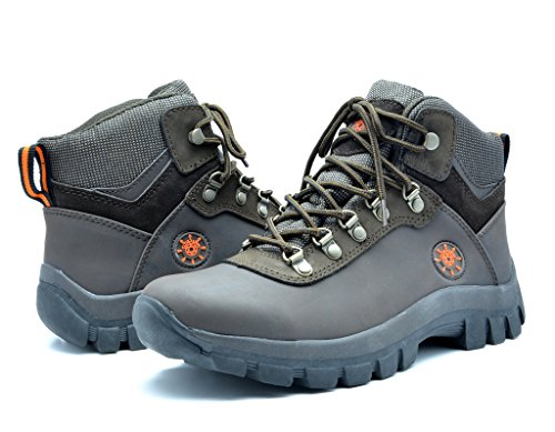 KINGSHOW Men's 1551 Water Resistance Rubber Sole Work Boots