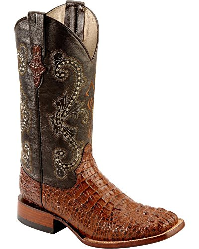 Ferrini Men's Print Crocodile S-Toe Western Boot,Sport Rust,13 D US