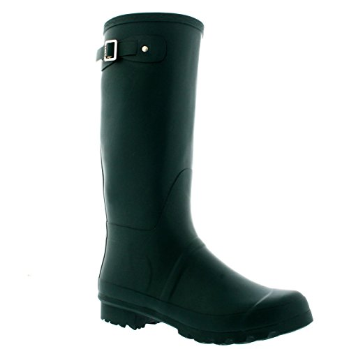 Mens Original Tall Plain Fishing Garden Rubber Waterproof Wellingtons – 11 – DGR44 BL0182