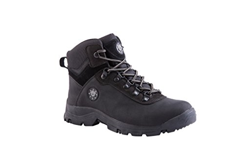KINGSHOW Men's 1552-1 Waterproof Black Rubber Sole Work Boots 12 M US