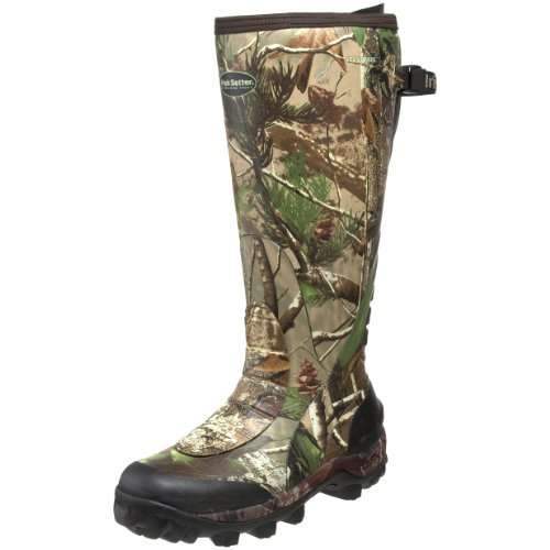 Irish Setter Men's RutMaster Waterproof 17″ Rubber Boot,Realtree APG Camouflage,11 E US