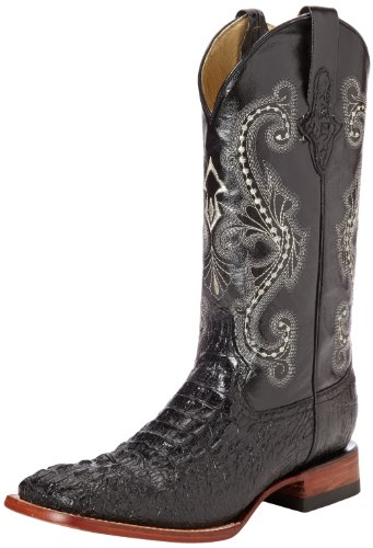 Ferrini Men's Print Crocodile S-Toe Western Boot,Black,10 D US