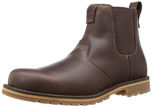 Timberland Men's Grantly Chelsea Boot, Dark Brown Oiled Fog/Suede, 11.5 M US