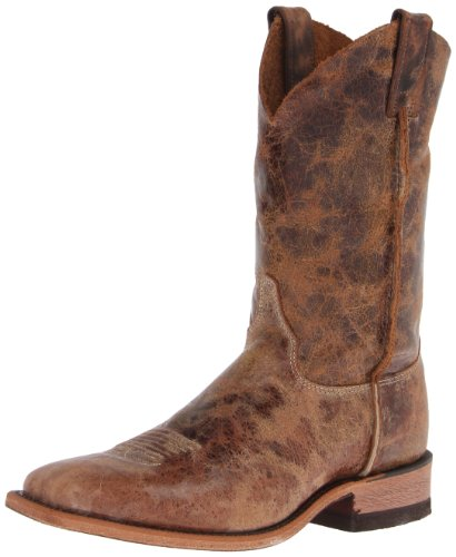 Justin Boots Men's U.S.A. Bent Rail Collection 11″ Boot Wide Square Double Stitch Toe Leather Outsole,Tan Road,8.5 D US