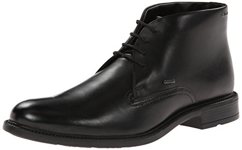 Clarks Men's Fawley Hi GTX Chukka Boot,Black Leather,7 M US