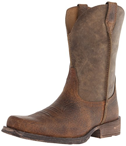 Ariat Men's Rambler Wide Square Toe Western Boot, Earth/Brown Bomber, 8 M US