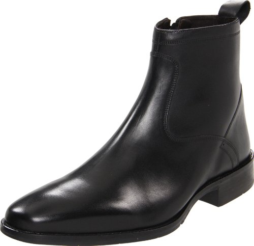 Johnston & Murphy Men's Larsey Dress Boot,Black Italian Calfskin,11 M US