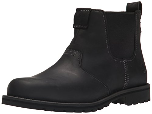 Timberland Men's Grantly Chelsea Boot, Black Connection/Suede, 10 M US