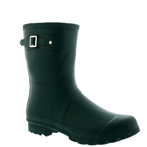 Mens Original Short Plain Rubber Fishing Ankle High Wellington Boots – 14 – DGR47 BL0186