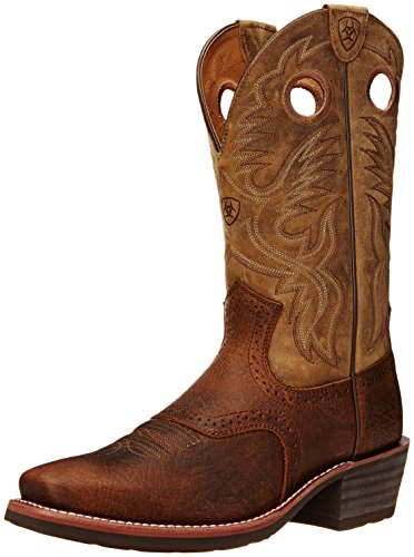 Ariat Men's Heritage Roughstock Square Toe Western Boot,  Earth/Brown Bomber, 10.5EE