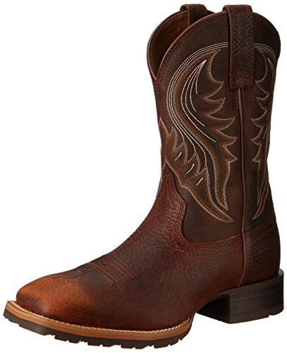 Ariat Men's Hybrid Rancher Western Boot, Brown Oiled Rowdy, 12 2E US