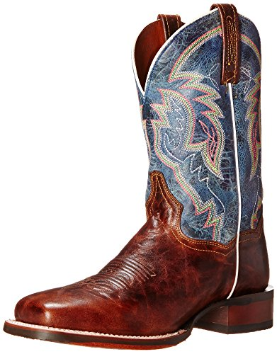 Dan Post Men's Teton Western Boot, Tan/Blue, 10.5 XW US