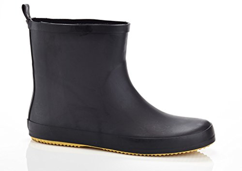 "SOLO Mens ""Ever Dry"" Low Cut Rubber Water Resistant Rain Boot Black 11"