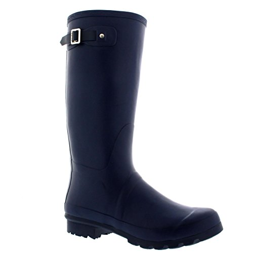 Mens Original Tall Plain Fishing Garden Rubber Waterproof Wellingtons – 9 – NAV42 BL0181