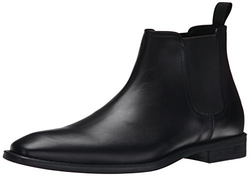 Donald J Pliner Men's Barton Chelsea Boot, Black Baby Calf, 10.5 M US