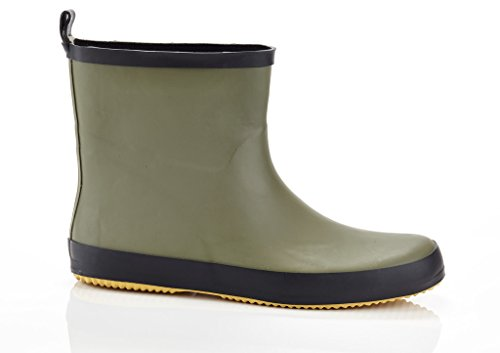 "SOLO Mens ""Ever Dry"" Low Cut Rubber Water Resistant Rain Boot Green 11"