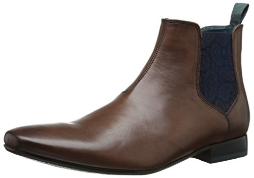 Ted Baker Men's Hourb Chelsea Boot, Brown Leather, 10 M US
